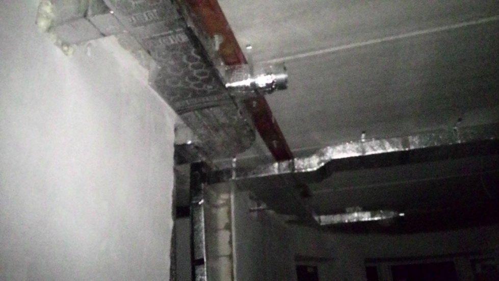 Монтаж вентиляция в здании